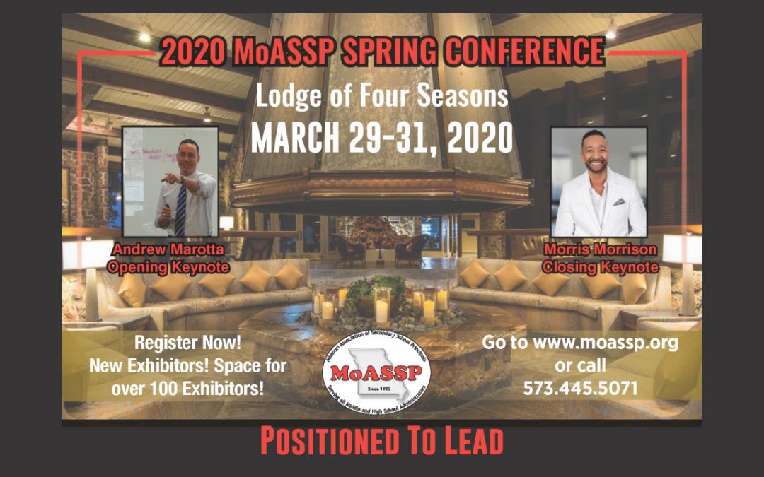 2020 MoASSP Spring Conference – EVENT POSTPONED